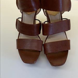 Vince Camuto platform leather wedges
